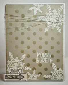 My Stampin' Spot, Jeni Allen, The Alley Way Stamps, TAWS, cards, clear stamps, Snow Daze
