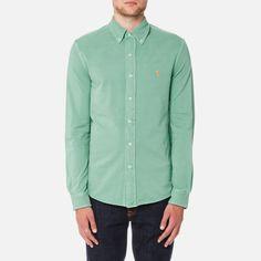 Ralph Lauren Mesh Women Featured Notch  Short Sleeved Polo Green