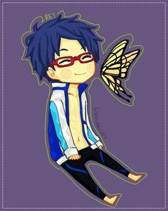 : Rei by baenana on DeviantArt Swimming Anime, Makoto Tachibana, Swim Club, To My Future Husband, My Eyes, Manga Anime, Chibi, Disney Characters, Fictional Characters