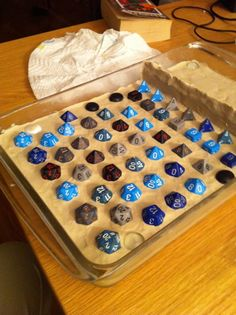 "Would be awesome to make little dice-shaped anythings! ""How to make your own Dungeons & Dragons chocolate dice mold 