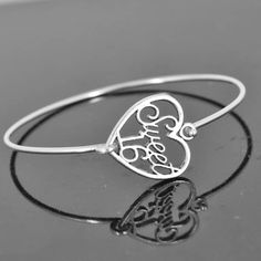 A personal favorite from my Etsy shop https://www.etsy.com/ca/listing/199501583/sweet-16-bangle-sterling-silver-bangle