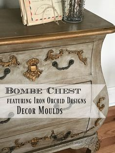 DIY Bombe Chest Makeover! (Step by Steps) http://ironorchiddesigns.com/2017/02/17/diy-bombe-chest-makeover-step-by-steps/