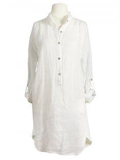 Damen Leinen Tunika Bluse, weiss von Miho's bei www.meinkleidchen.de