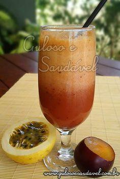 Receita de Suco de Ameixa com Maracujá