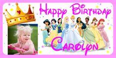Personalized Disney Princess Birthday Banner with photo. Disney Princess Birthday Party, Baby Girl Birthday, 2nd Birthday Parties, Birthday Ideas, Personalized Birthday Banners, Photo Banner, Party Banners, Party Photos, Party Themes