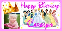 Personalized Oversized Birthday Banner - Princess - Birthday Gift Personalized Birthday