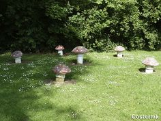 I made some little ones, but I think I better make big concrete toadstools to adorn the lawn.