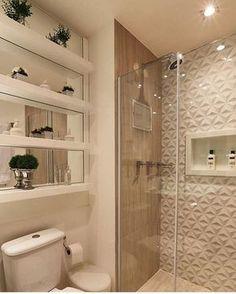 {inspiração} Muito amor por esse banheiro! Cada dia uma dúvida maior de como será o nosso #decoração #apartamentopequeno #decor #nossoape #inspiração #banheiro