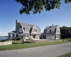 The front view of the West Falmouth, Ma, home - just beautiful from every angle - 9600 sq. ft. - Hutker Architects