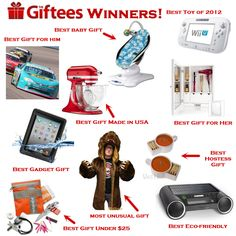 The 2012 Giftee Award Winners: The 10 best gifts of 2012! You need to consult this list before making your Christmas purchases!