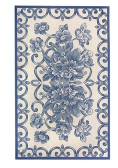 Royal Blue White Hand Hooked Rug Area By The Market America