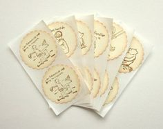 Classic Winnie the Pooh Stickers Set of by LittlePaperFarmhouse