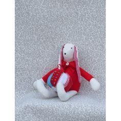 Handmade Fabric Bunny Doll with Ball Bunny, Presents, Snoopy, Dolls, Fabric, Handmade, Character, Decor, Art