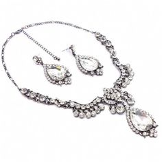Leanna's Glamorous Pear Drop Necklace & Earring Set - Only $47.95 — Fantasy Jewelry Box