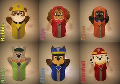 PAW Patrol hand puppet characters tv animated series / Rubble