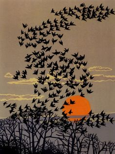 wasbella102:  Cutting Away: The Linocuts of Robert Gillmor indigodreams: