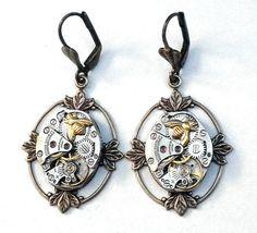 Honey Bee Steampunk Earrings by Steampunkitis on Etsy, $65.00