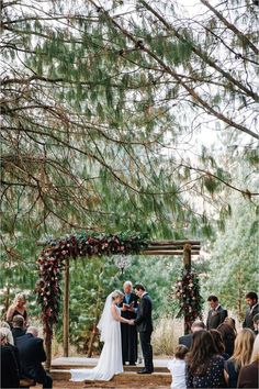 Outdoor Wedding Ceremonies You'll Love This Fashionable Forest Wedding ceremony for the Dramatic Florals and the Burgundy Hues Wedding Ceremony Ideas, Rustic Wedding Venues, Outdoor Ceremony, Wedding Trends, Wedding Ceremonies, Wedding Decor, Wedding Arches, Wedding Backdrops, Rustic Forest Wedding