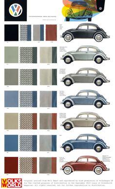 VW Beetle colour charts
