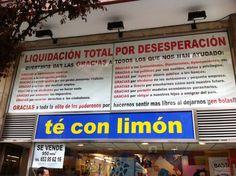 Verdades como puños!! Ojo al cartel de una tienda en la C/ Lopez de Hoyos en Madrid, vía Carlos Sanguino, Spanish Humor, Another World, Broadway, Sayings, Learning, Madrid, Funny Stuff, Sign, Twitter