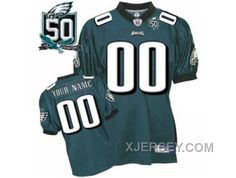 http://www.xjersey.com/for-sale-customized-philadelphia-eagles-jersey-green-team-color-with-team-50th-patch.html FOR SALE CUSTOMIZED PHILADELPHIA EAGLES JERSEY GREEN TEAM COLOR WITH TEAM 50TH PATCH Only 70.96€ , Free Shipping!