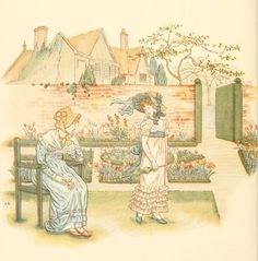 Little Ann, a book by Kate Greenaway 1880 - Plate 13