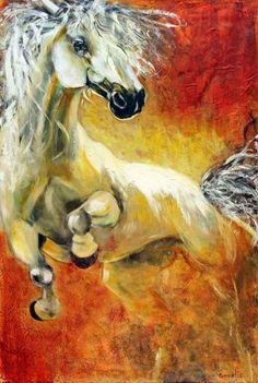 Spirited Horse - acrylic by ©Diane Goyette (via International Academy of Fine Arts of Quebec)