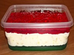 This is the original Jell-O Ribbon Salad, as published in the Joys of Jell-O recipe book that my mom has had-probably since the 1950s. The holidays And other special occasions just wouldnt be the same without this dish on the table!