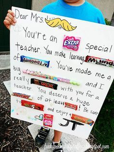 Teacher Appreciation Candy Poster Free Download Cute