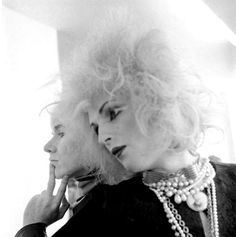 Andy Warhol and Candy Darling photographed by Cecil Beaton.