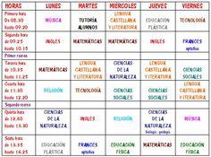 HORARIO DE SEGUNDO DE ESO Spanish 1, Spanish Class, Spanish Lessons, My School Life, I School, Spanish Teaching Resources, Spanish Worksheets, Global Citizenship, School Schedule