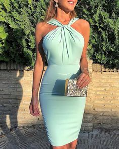 Shop Sleeveless Ruched Twisted Bodycon Dress right now, get great deals at pickmyboutique. Elegant Dresses, Beautiful Dresses, New Dress, Dress Up, Dress Outfits, Fashion Dresses, Party Dresses Online, Bodycon Dress Parties, Women's Summer Fashion