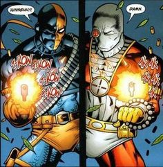 The Versus series from DC is usually fun from the fan point of view, pitting heroes or villains against each other that you wouldn't normally see fight. Deadshot Comics, Deathstroke, Batman Animated Movies, Son Of Batman, Super Soldier, Marvel, Comic Book Heroes, Rogues, Comic Art
