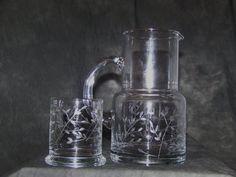 Vintage Bedside Cup and Pitcher set by TheCornerVintageShop, $35.00