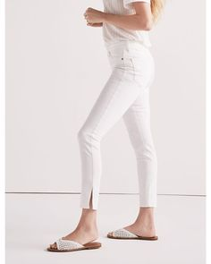 04eae2ffcc Lucky Brand - White Ava Skinny Jean With Finished Side Slit Hem - Lyst  Lucky Brand