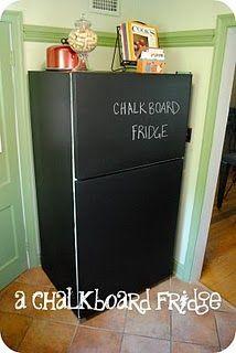 DIY Chalkboard Fridge #chalkboard #refridgerator