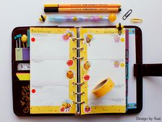 The week nr. 6 - Yellow & Bees #planner