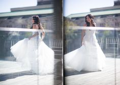 she looks gorgeous in this stunning Monique Lhuillier gown! Looking Gorgeous, Beautiful, Monique Lhuillier, Warm Weather, Toronto, One Shoulder Wedding Dress, Brides, Museum, Gowns