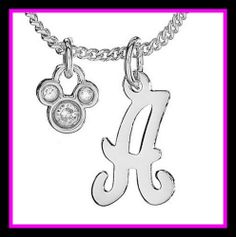 Dear Santa, I'd love a Mickey Mouse initial necklace...