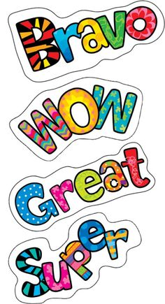 Positive Words   Reward Stickers