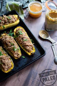 Paleo Pulled Pork Stuffed Squash (omit honey for #Whole30)   stupideasypaleo.com #paleo #realfood