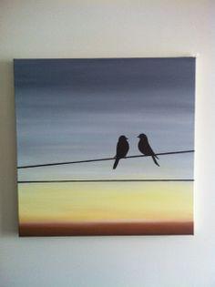 Two Little Birds - Melissa D'Abreu Acrylic on canvas