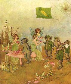 Ida Rentoul Outhwaite ~ Refreshments ~ The Enchanted Forest ~ 1921