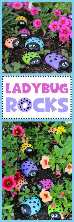Love these adorable Ladybug Rocks! A great spring craft for kids to create and give to their mom for Mother's Day!