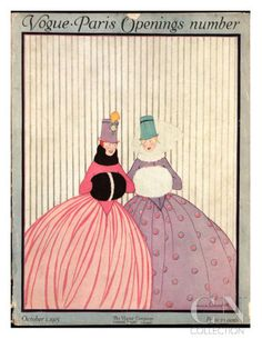 Vogue Cover - October 1915 Premium Giclee Print Illustration by Irma Campbell