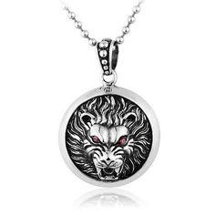Lion King Dog Tag Titanium Pendant - Zivpin