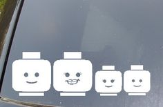 Lego Family Car Sticker Set of 4 by EpicFamilyDecals on Etsy, $10.00