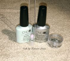 CND Shellac Pave Crystal Ring Inspired Nail Art Tutorial YouTube - Nails by Rebecca Louise