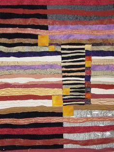 www.leniwiener Leni Wiener, amazing example of strip piecing process! Love the wavy lines, and variety of scales.