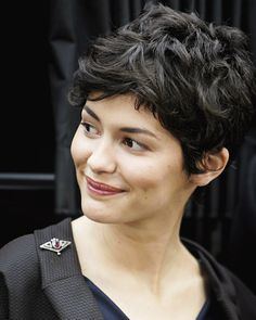 I have no desire to do my hair this short anymore, but damn this cut is so adorable on her - audrey tautou
